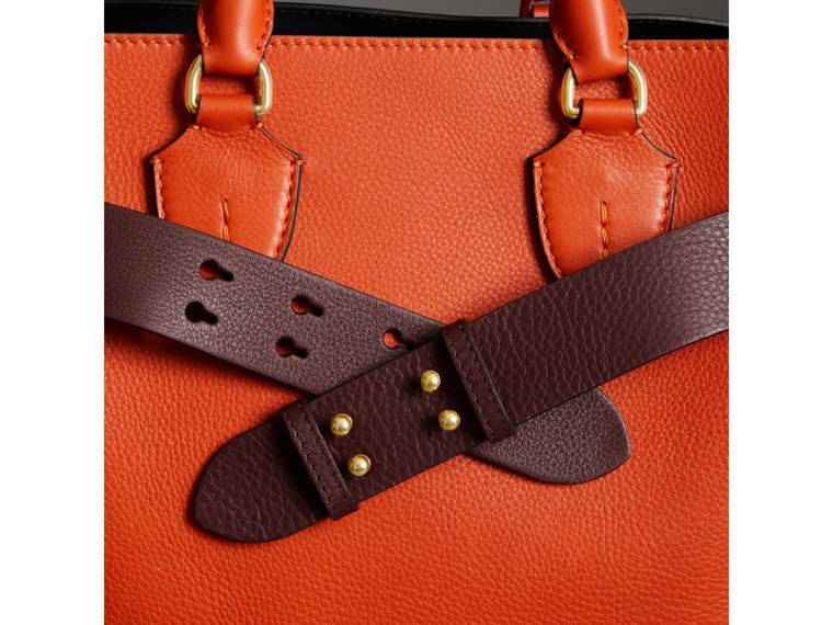 The Medium Belt Bag Grainy Leather Belt in Deep Claret - Women | Burberry Singapore - cell image 2