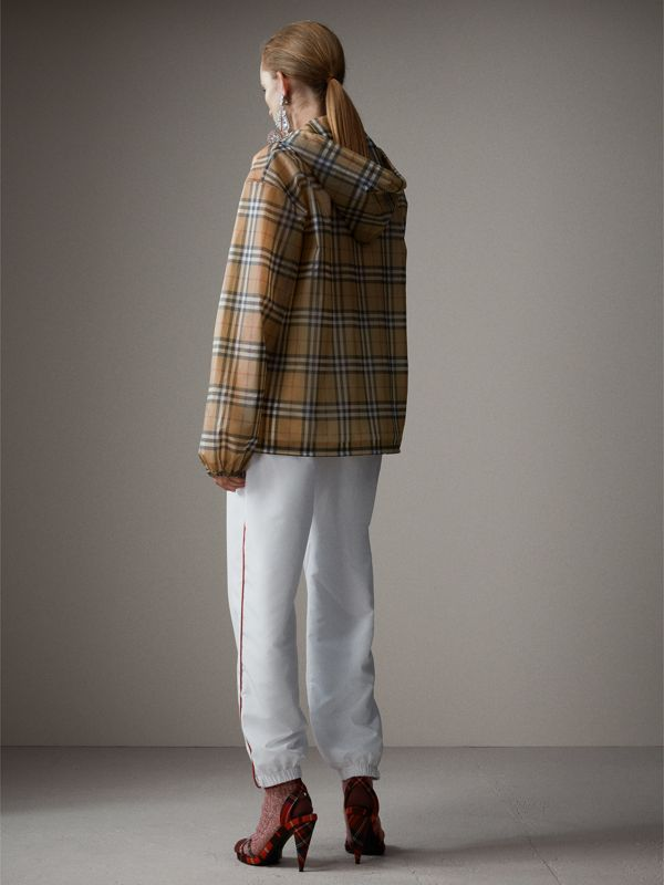 Vintage Check Soft-touch Plastic Cagoule in Antique Yellow - Women | Burberry Australia - cell image 2