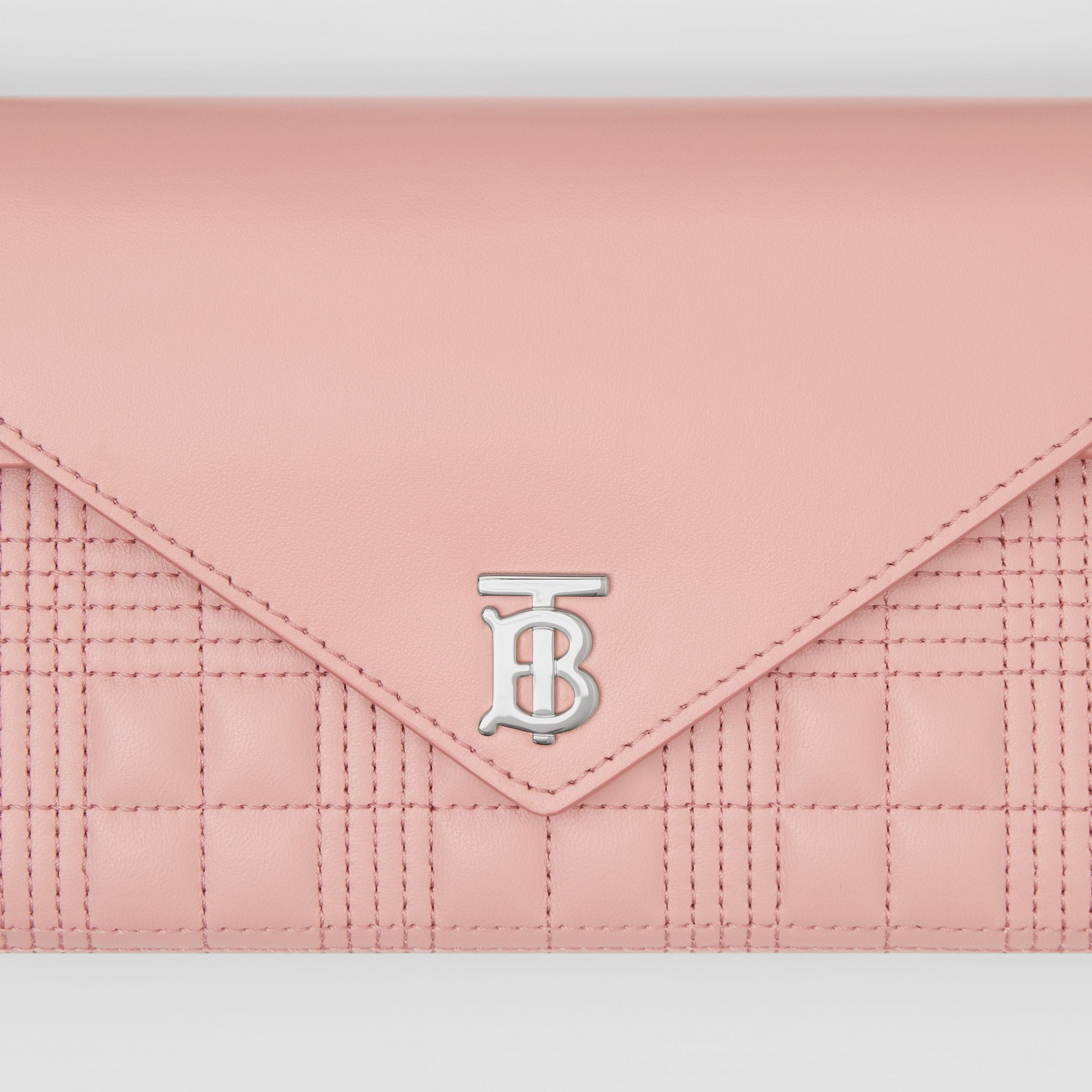 Quilted Lambskin Wallet with Detachable Chain Strap in Blush Pink - Women | Burberry - 2