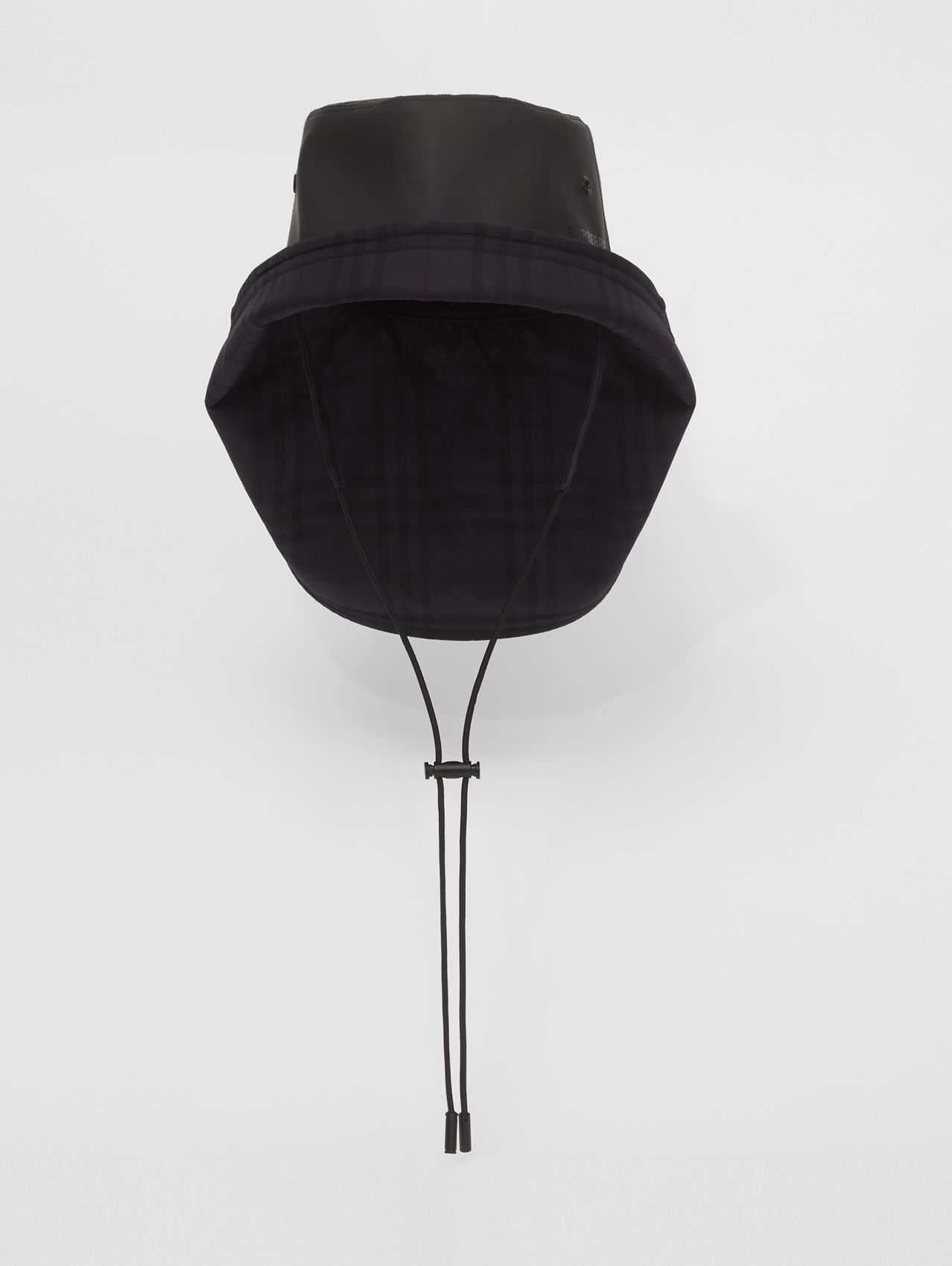 Rubberised Cotton Fisherman Hat in Black