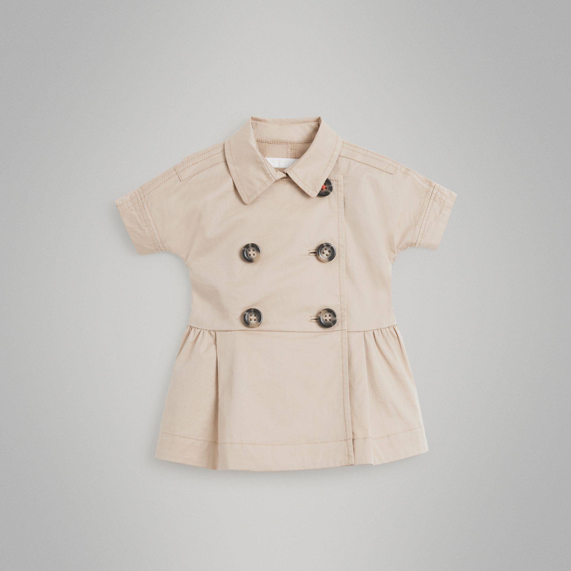 Robe trench en coton extensible (Miel) - Enfant | Burberry - photo de la galerie 0