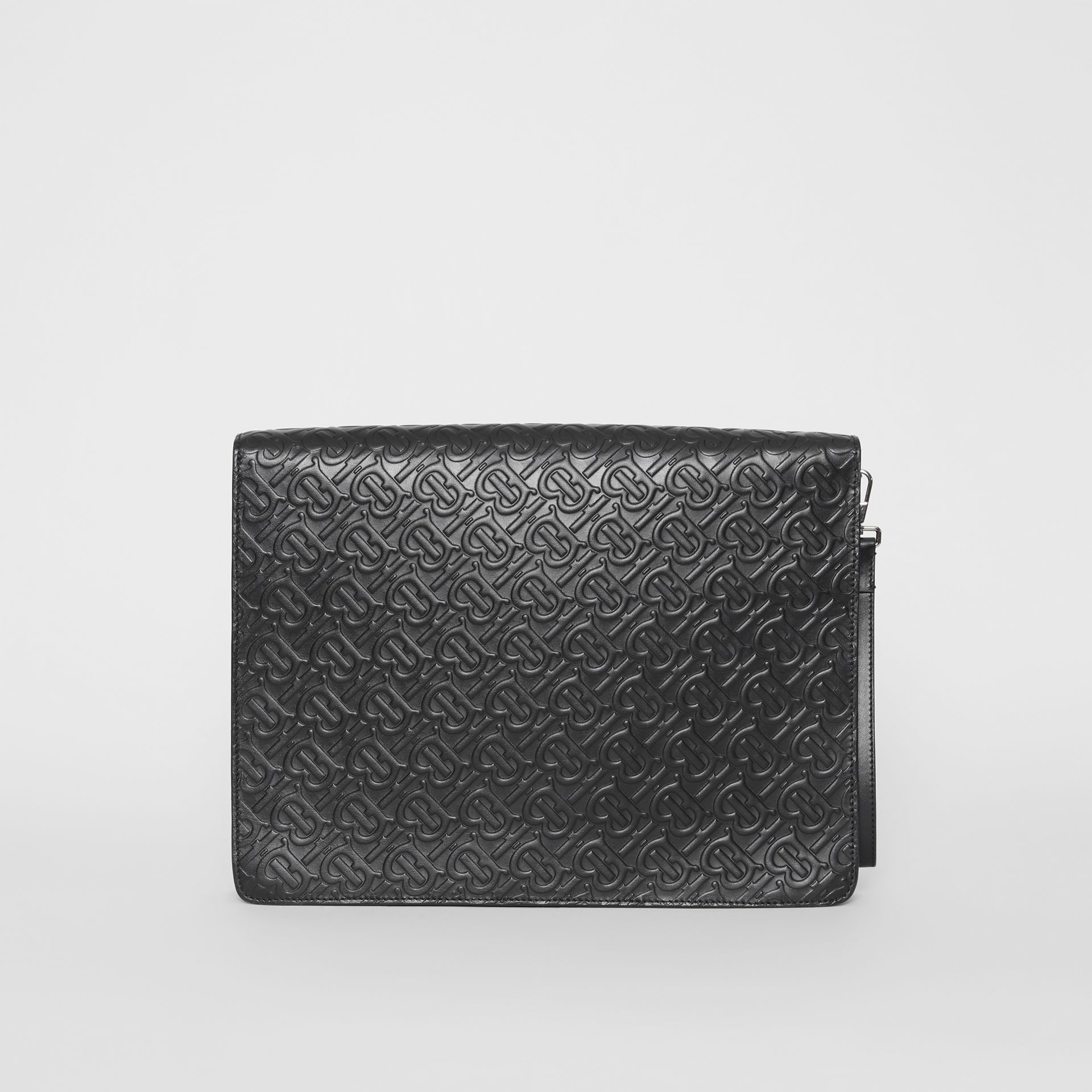 Triple Stud Monogram Leather Document Case in Black - Men | Burberry United Kingdom - gallery image 4