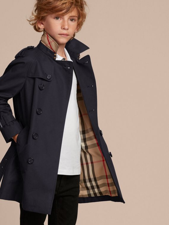 The Wiltshire – Heritage Trench Coat Navy - cell image 2