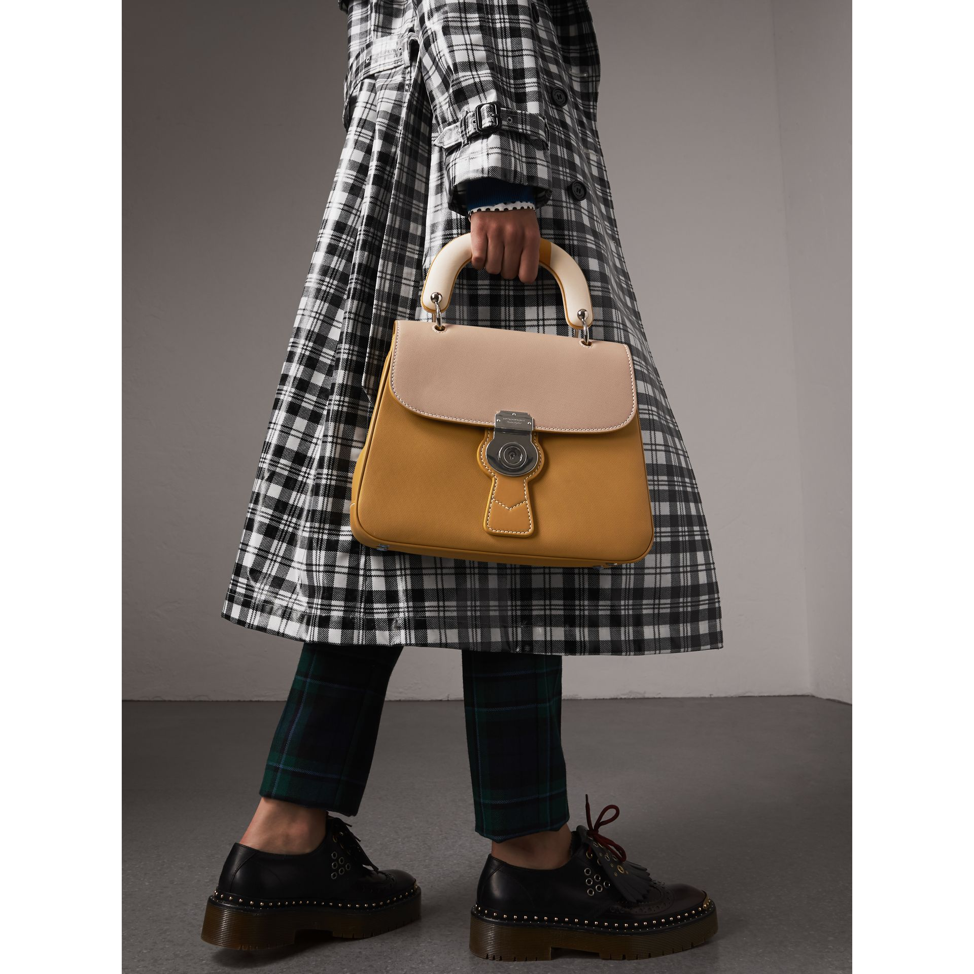 The Medium DK88 Top Handle Bag with Geometric Print in Ochre Yellow/honey - Women | Burberry Canada - gallery image 3