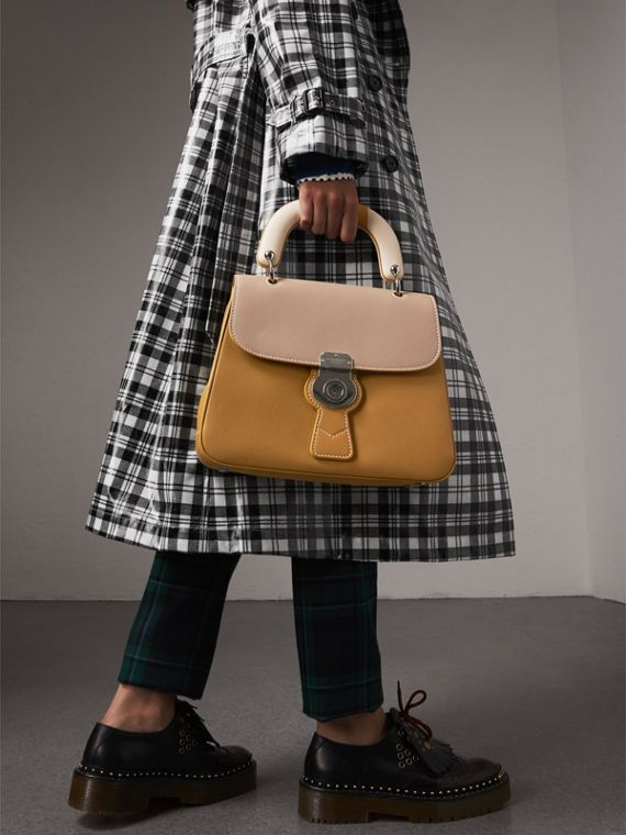 The Medium DK88 Top Handle Bag with Geometric Print in Ochre Yellow/honey - Women | Burberry - cell image 3