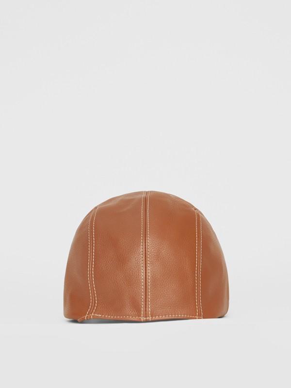 Chapéu de piloto de couro (Toffee) | Burberry - cell image 3