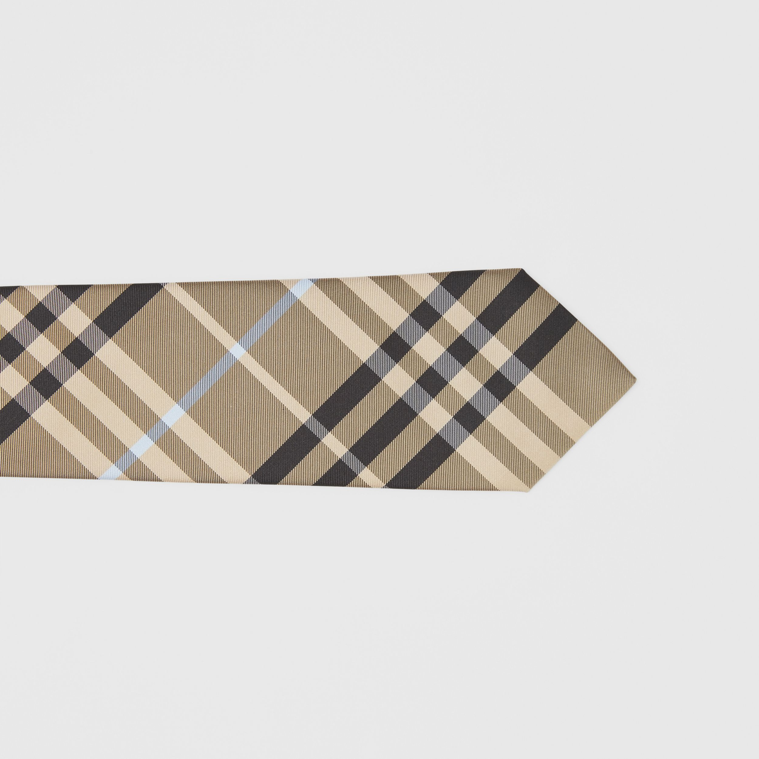 Classic Cut Check Silk Tie in Dusty Sand - Men | Burberry - 2