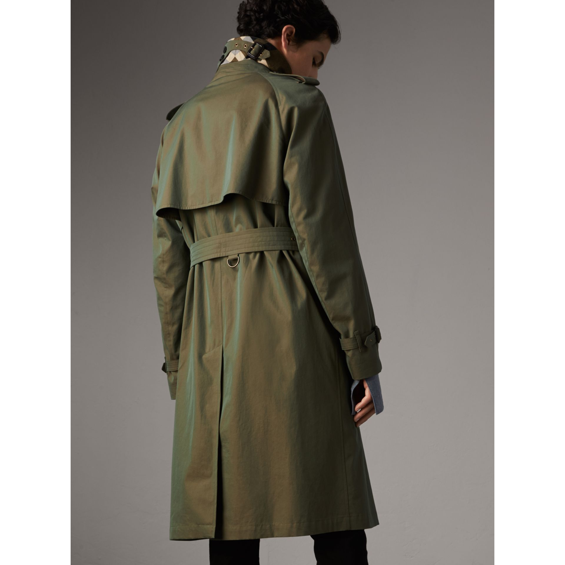 Oversize Storm Shield Tropical Gabardine Trench Coat in Bright Olive - Men | Burberry - gallery image 3