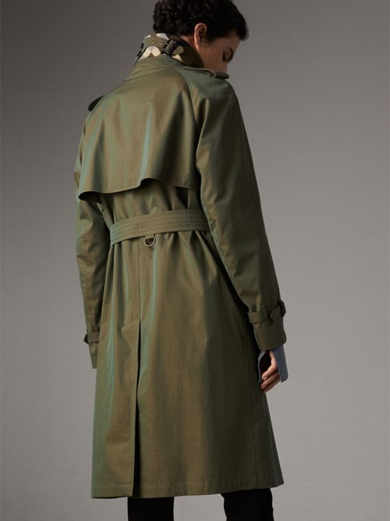 Oversize Storm Shield Tropical Gabardine Trench Coat in Bright Olive - Men | Burberry - cell image 2