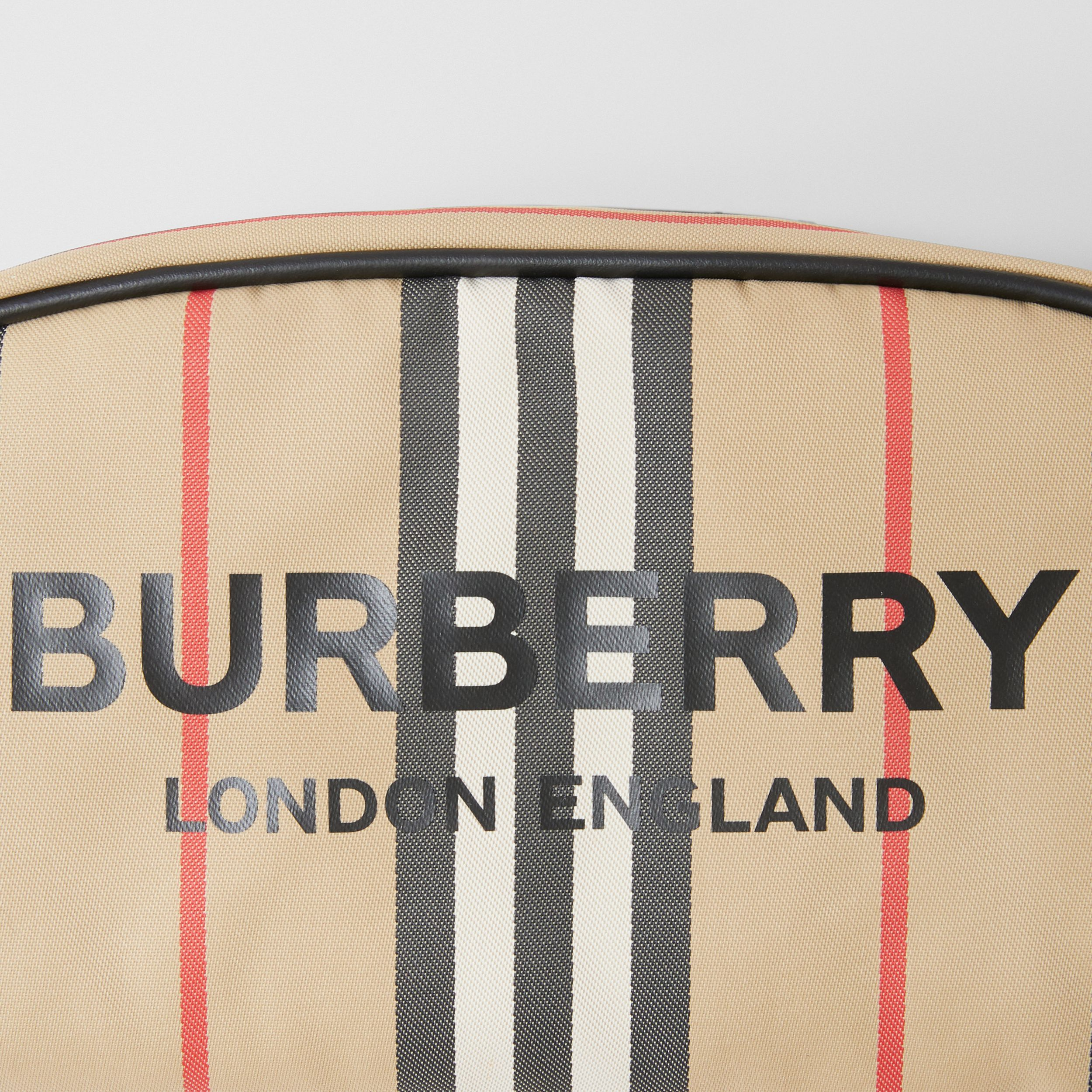Small Icon Stripe ECONYL® Travel Pouch in Archive Beige - Women | Burberry - 2