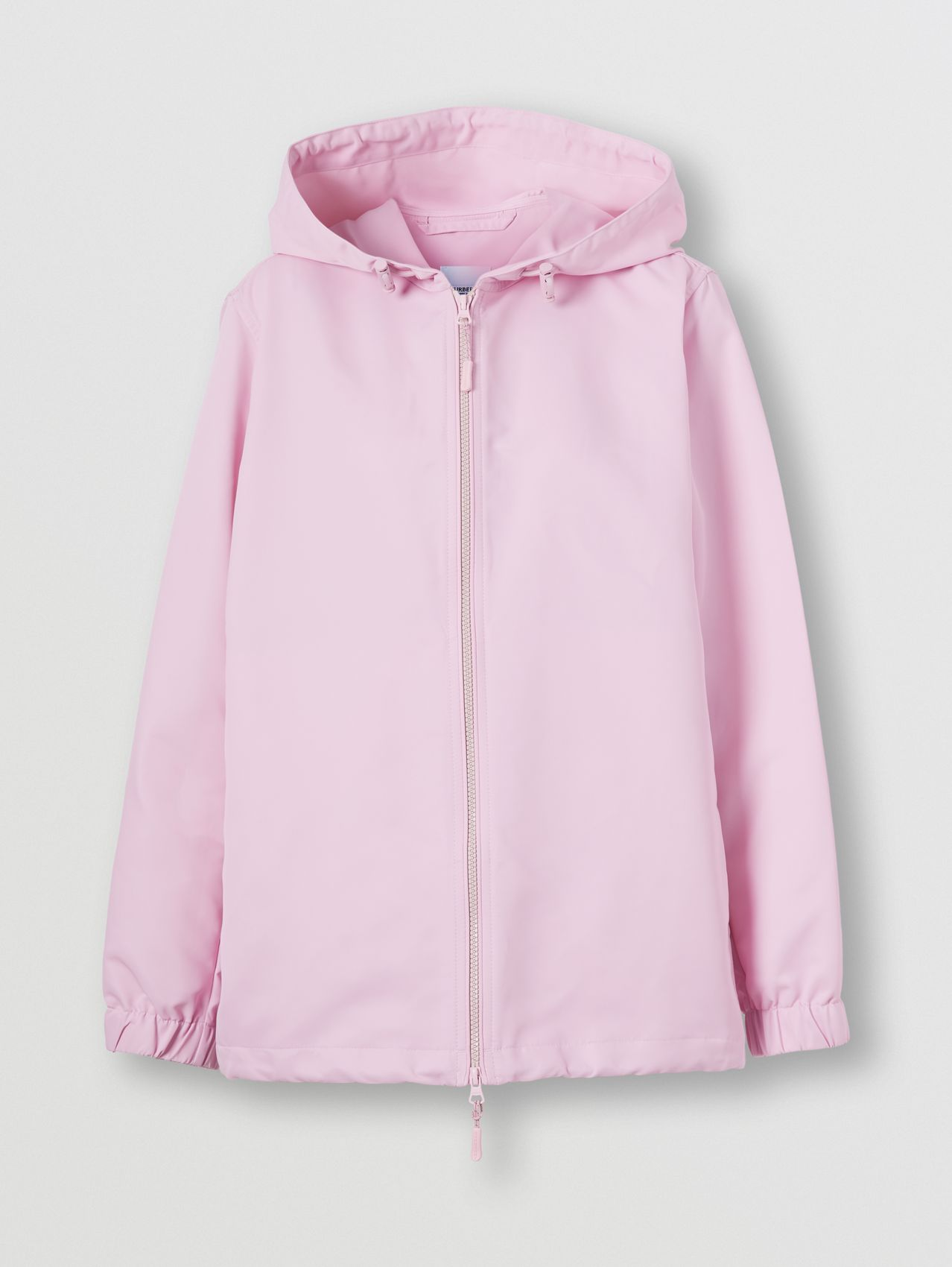 Horseferry Print Nylon Hooded Jacket in Orchid Pink