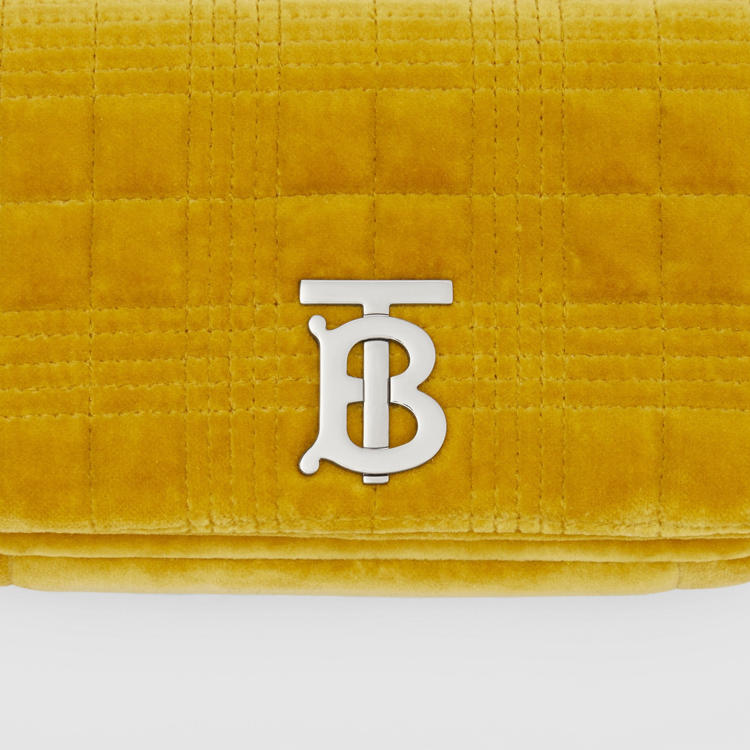 Mini Quilted Velvet Lola Bag in Fresh Moss Green - Women | Burberry - 2