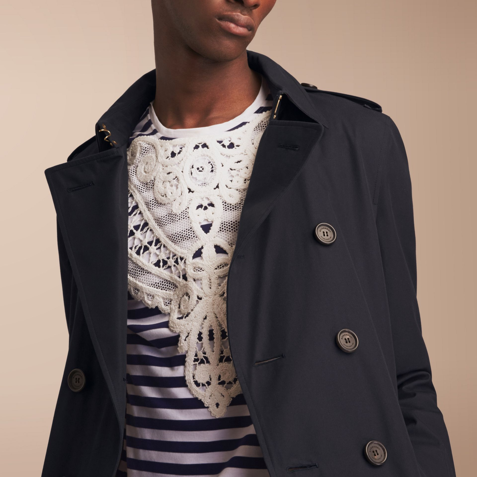 The Chelsea – Long Heritage Trench Coat Navy - gallery image 8