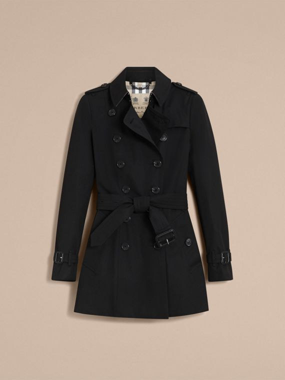 The Chelsea – Short Heritage Trench Coat Black - cell image 3
