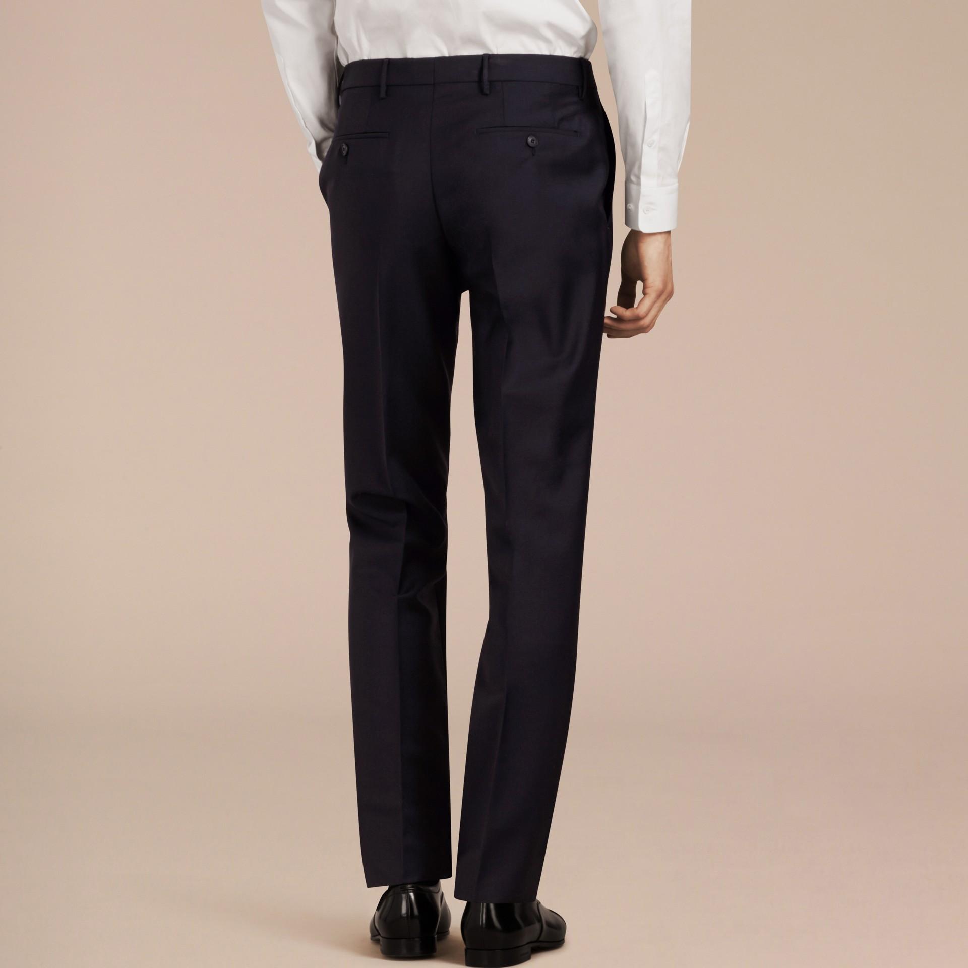Marine véritable Pantalon de coupe moderne en laine et mohair Marine Véritable - photo de la galerie 3