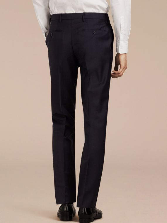 Modern Fit Wool Mohair Trousers True Navy - cell image 2