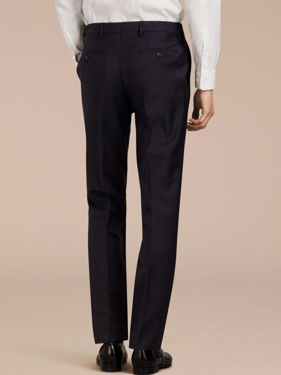 Pantaloni dal taglio moderno in lana e mohair Vero Navy - cell image 2