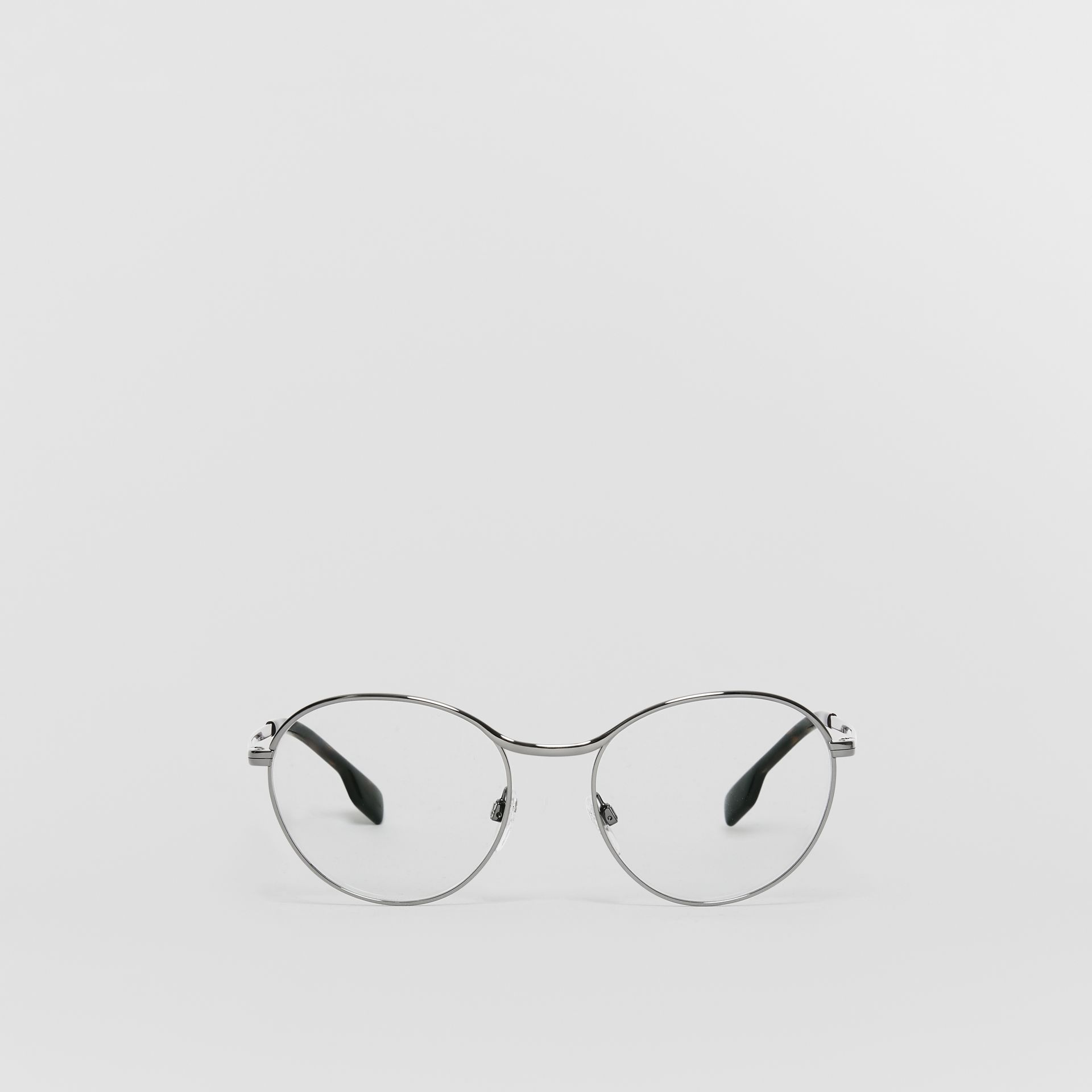 Gold-plated Round Optical Frames in Nude - Women | Burberry United States - gallery image 0
