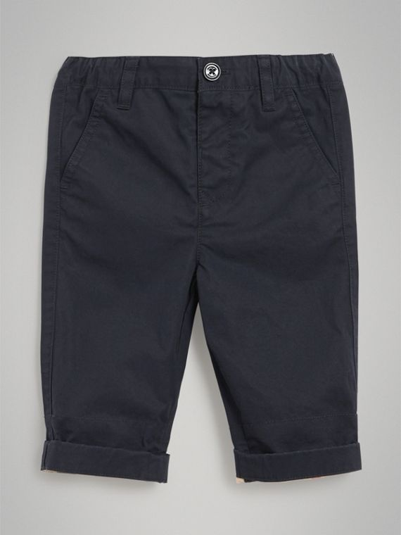 Cotton Twill Chinos in Ink