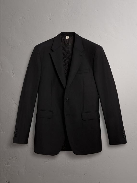 Classic Fit Wool Part-canvas Suit in Black - Men | Burberry - cell image 3