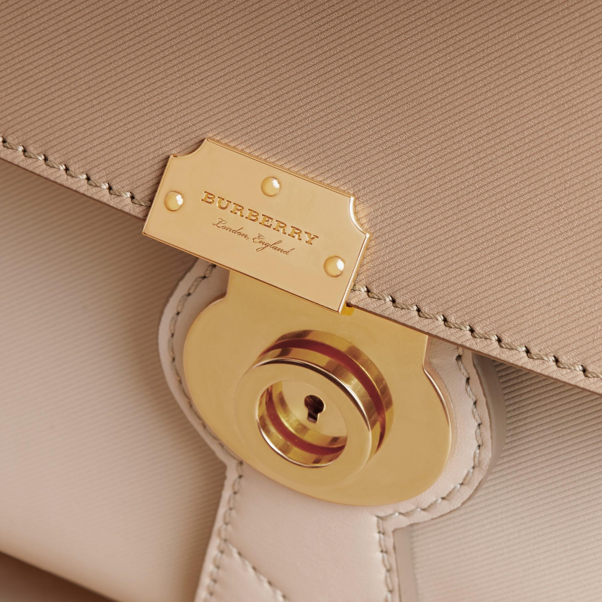 The Medium DK88 Top Handle Bag Limestone/honey - gallery image 2