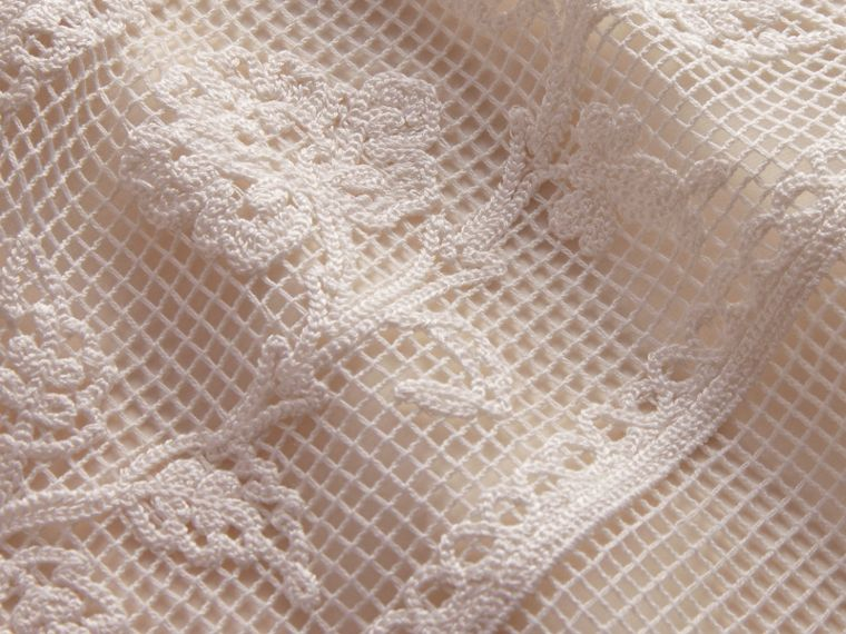 Net and Floral Macramé Lace Panel Dress in Off White - Women | Burberry - cell image 1