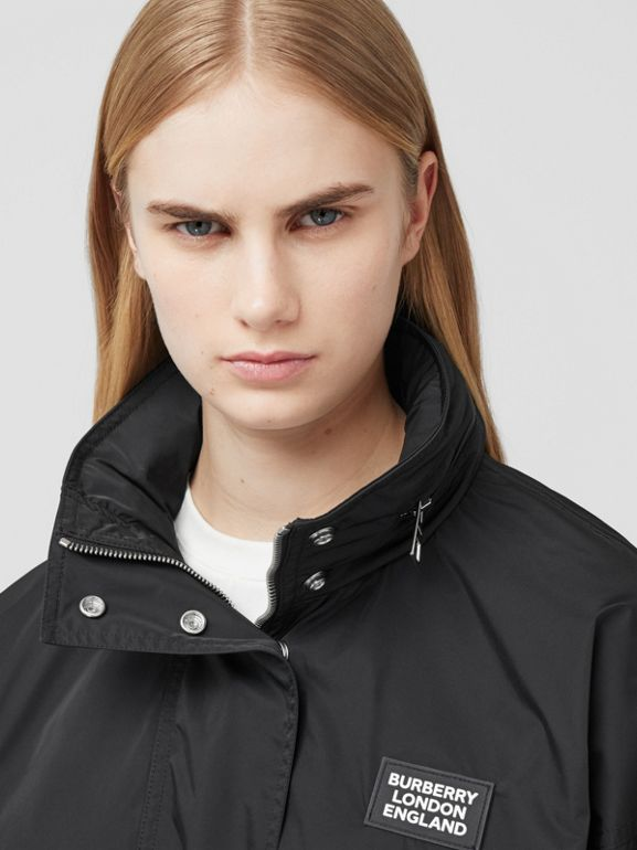 Packaway Hood Bio-based Nylon Jacket in Black - Women | Burberry - cell image 1
