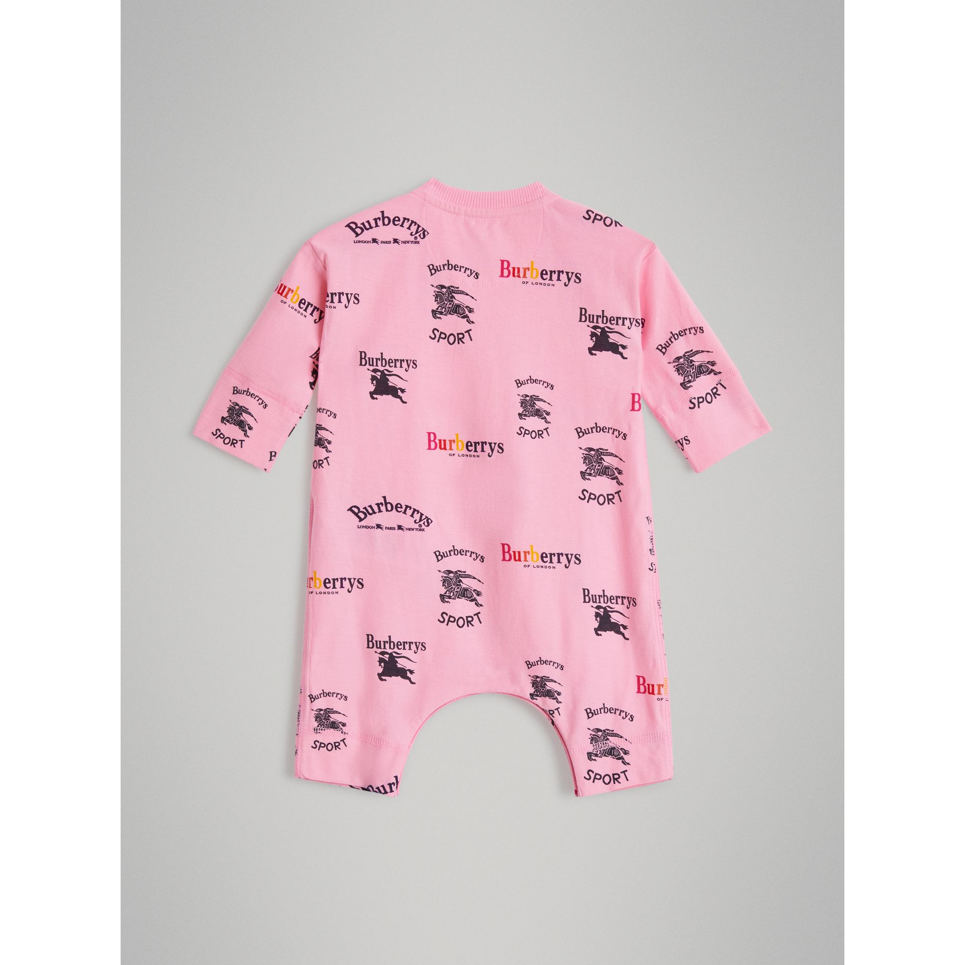 Archive Logo Two-piece Baby Gift Set in Neon Pink - Children | Burberry United Kingdom - gallery image 3