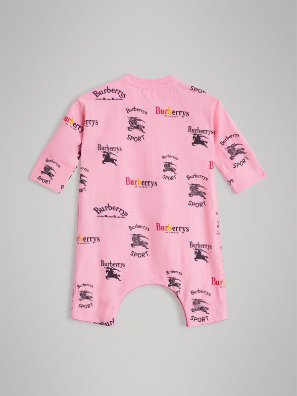 Archive Logo Two-piece Baby Gift Set in Neon Pink - Children | Burberry - cell image 3