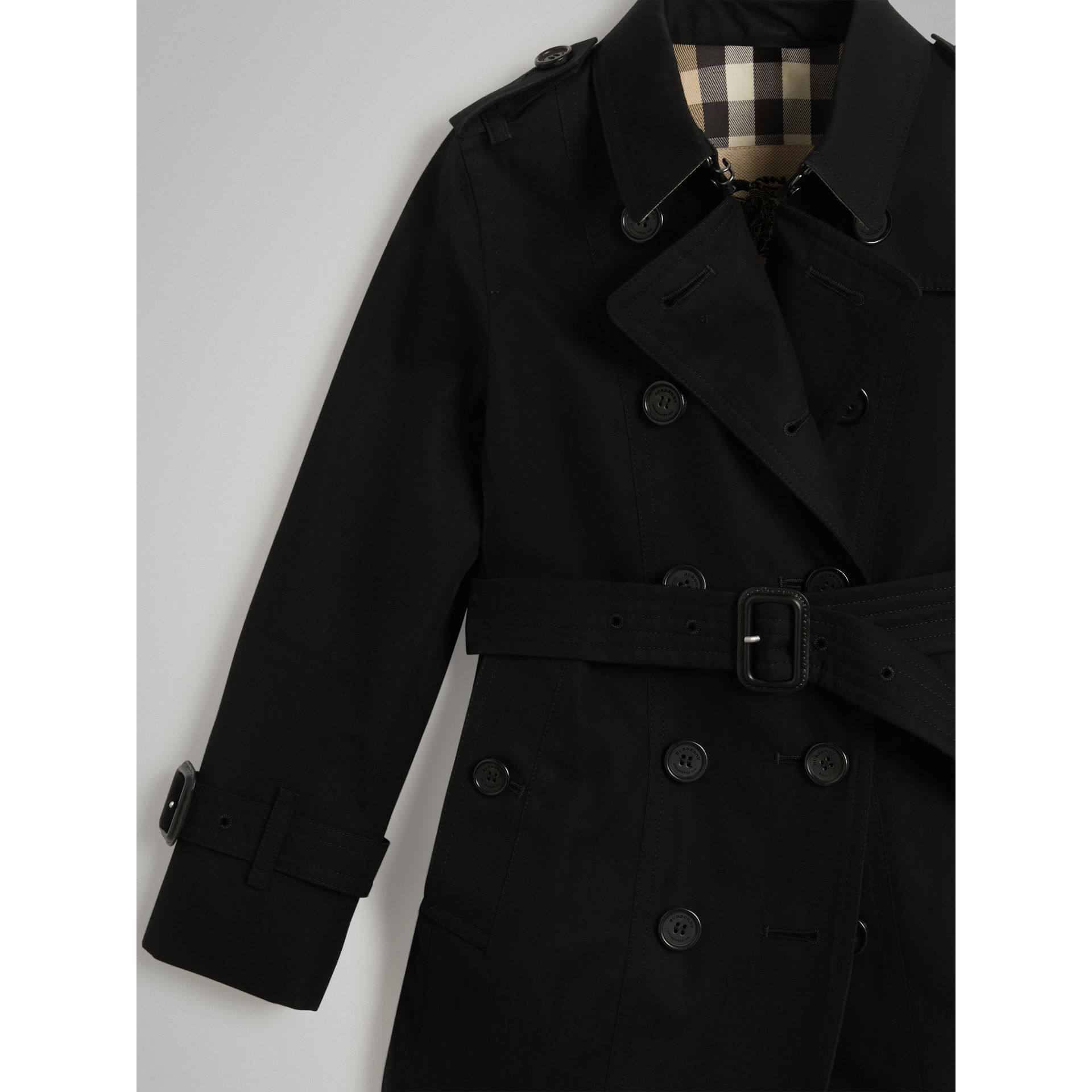 The Sandringham Trench Coat in Black | Burberry - gallery image 4