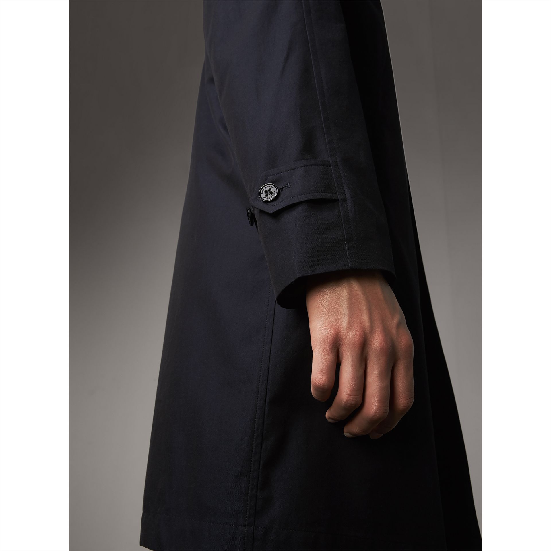 The Camden – Long Car Coat in Blue Carbon - Men | Burberry Australia - gallery image 4