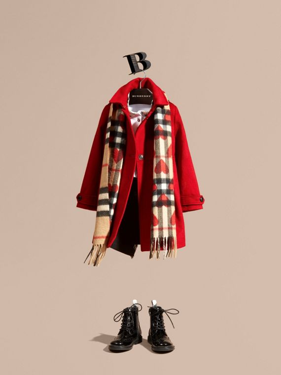 Cashmere Military Coat Parade Red