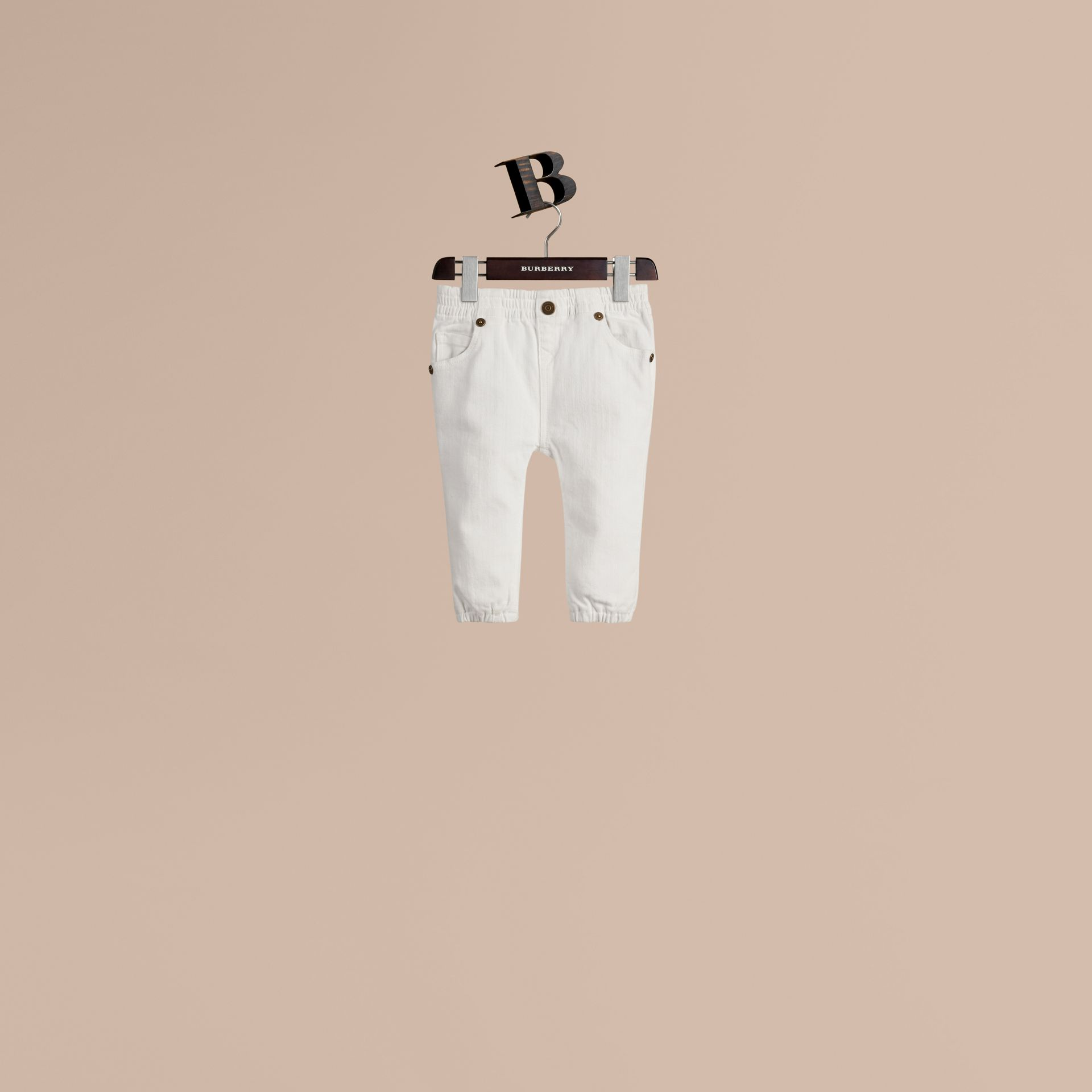 White Stretch Denim Jeans - gallery image 1