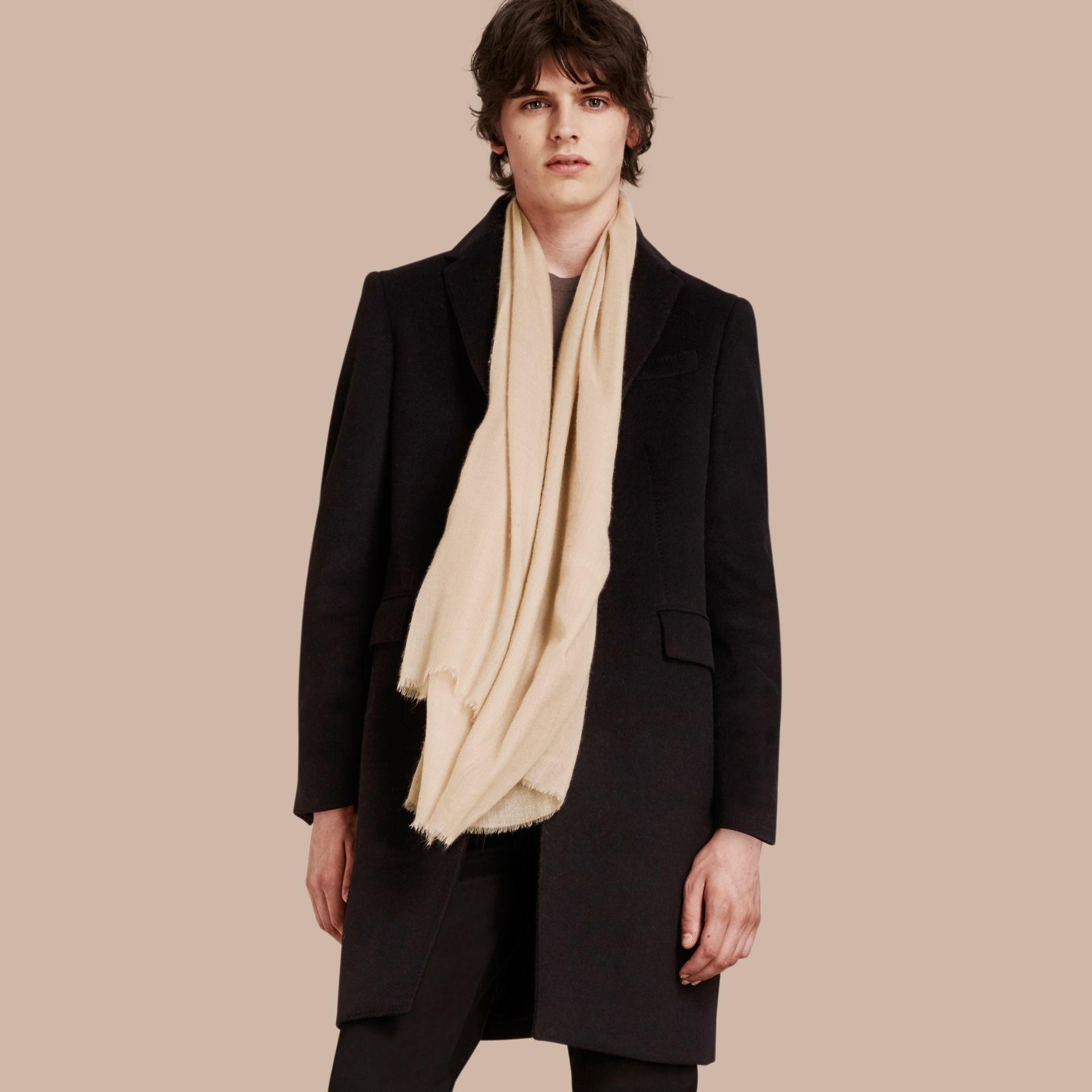 Stone The Lightweight Cashmere Scarf Stone - gallery image 4