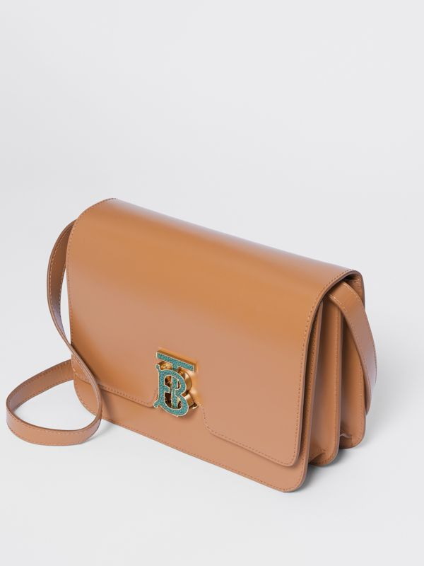 Medium Leather TB Bag in Flaxseed - Women | Burberry - cell image 3