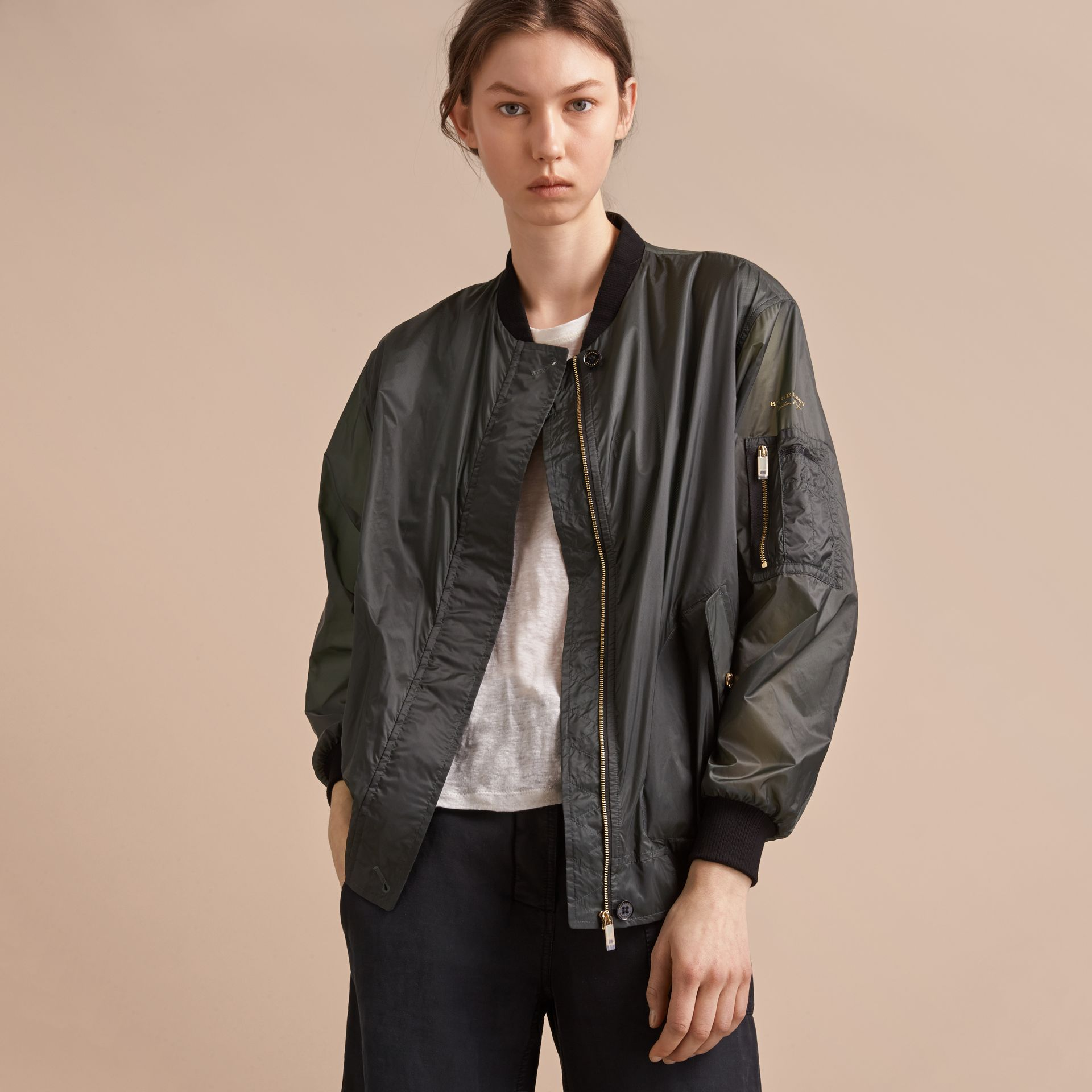 Lightweight Bomber Jacket in Vintage Green - gallery image 5