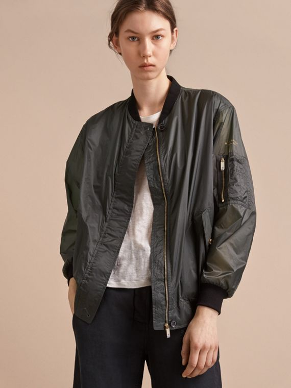Lightweight Bomber Jacket in Vintage Green