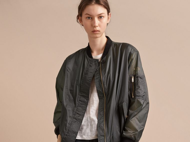 Lightweight Bomber Jacket in Vintage Green - cell image 4