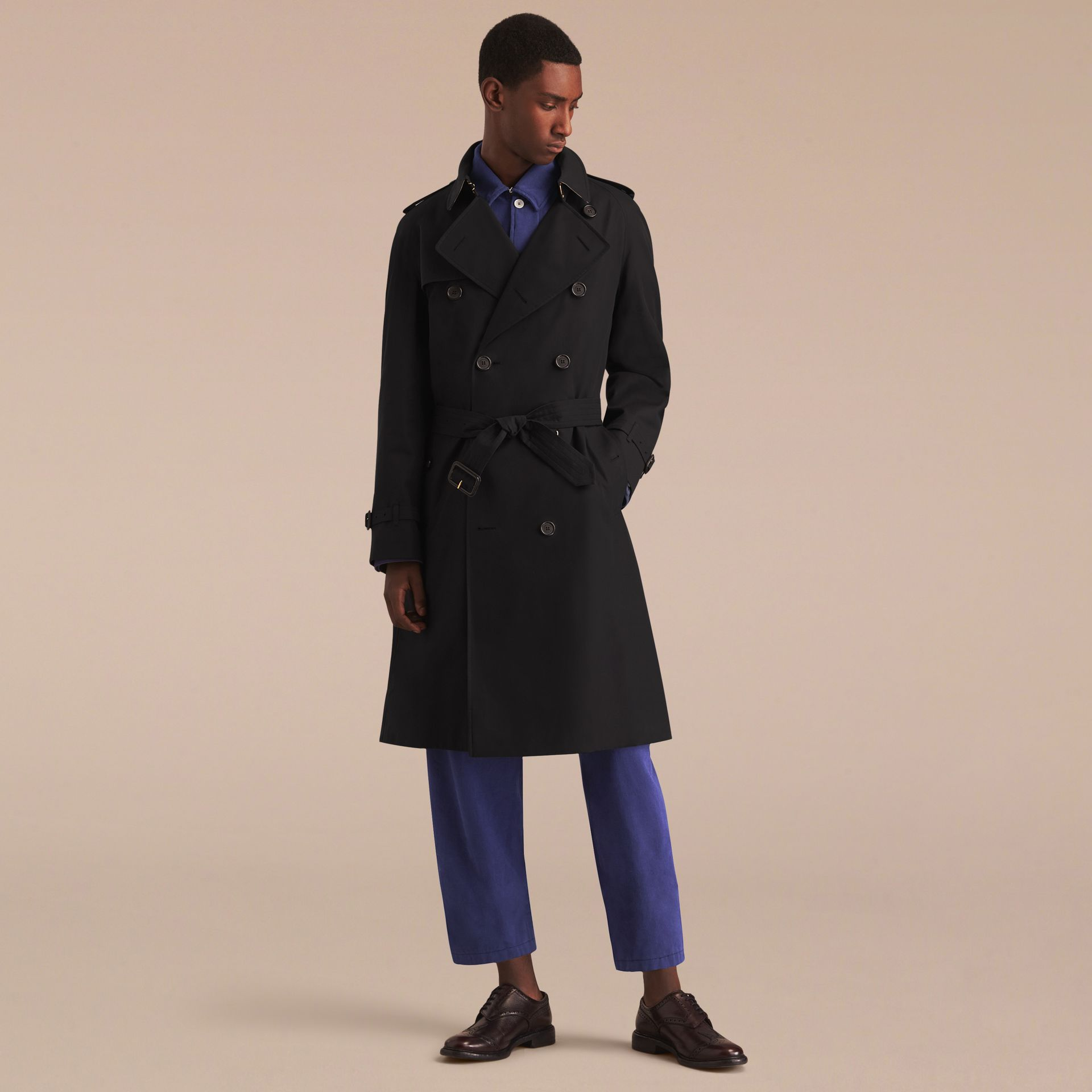 Black The Westminster – Long Heritage Trench Coat Black - gallery image 9