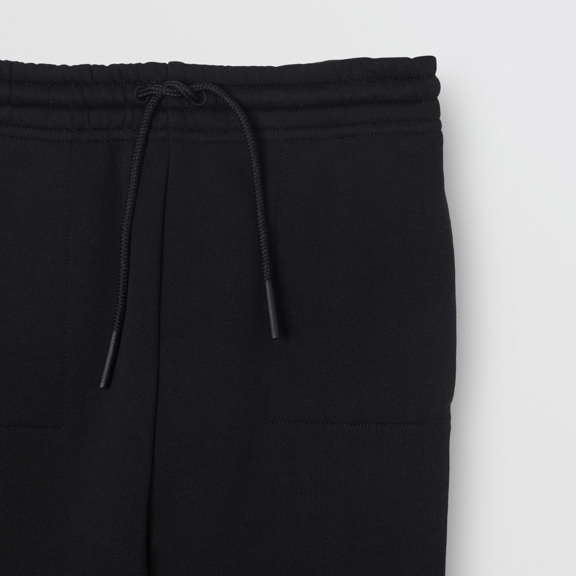 Logo Detail Jersey Trackpants in Black | Burberry Canada - gallery image 3