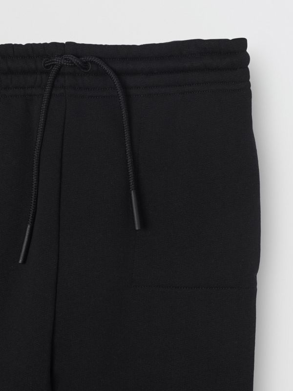 Logo Detail Jersey Trackpants in Black | Burberry - cell image 3