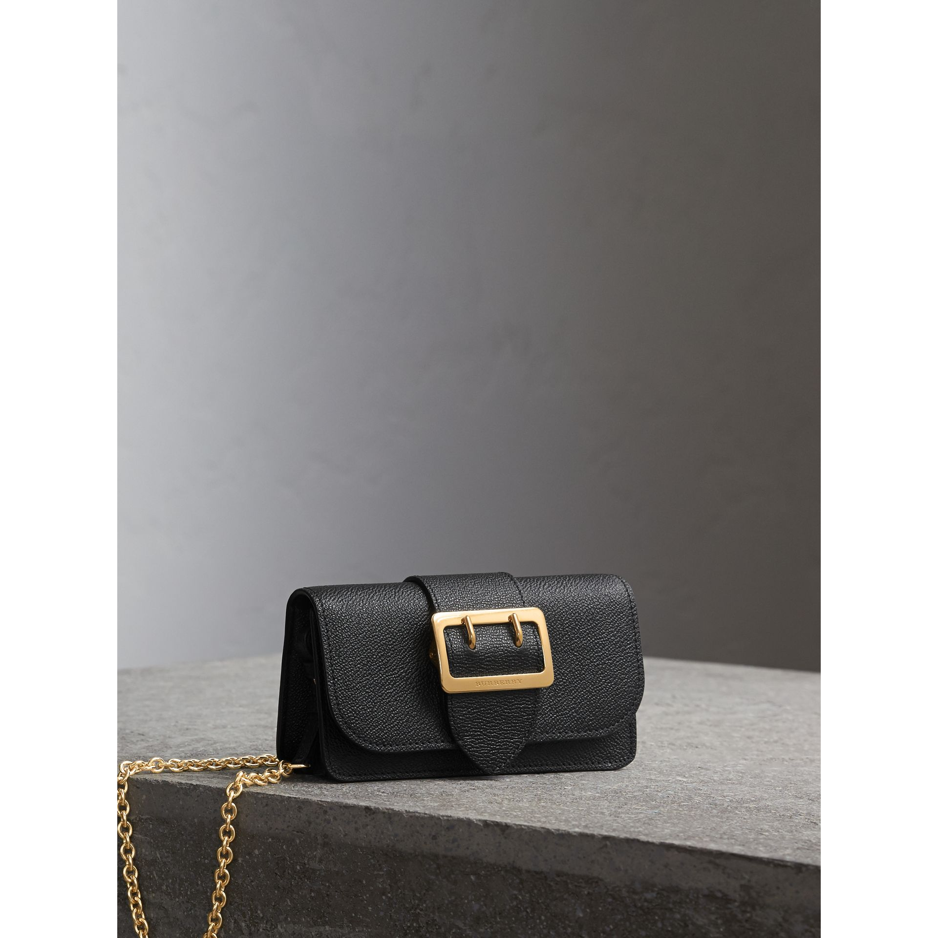 The Mini Buckle Bag in Grainy Leather in Black - Women | Burberry Canada - gallery image 7