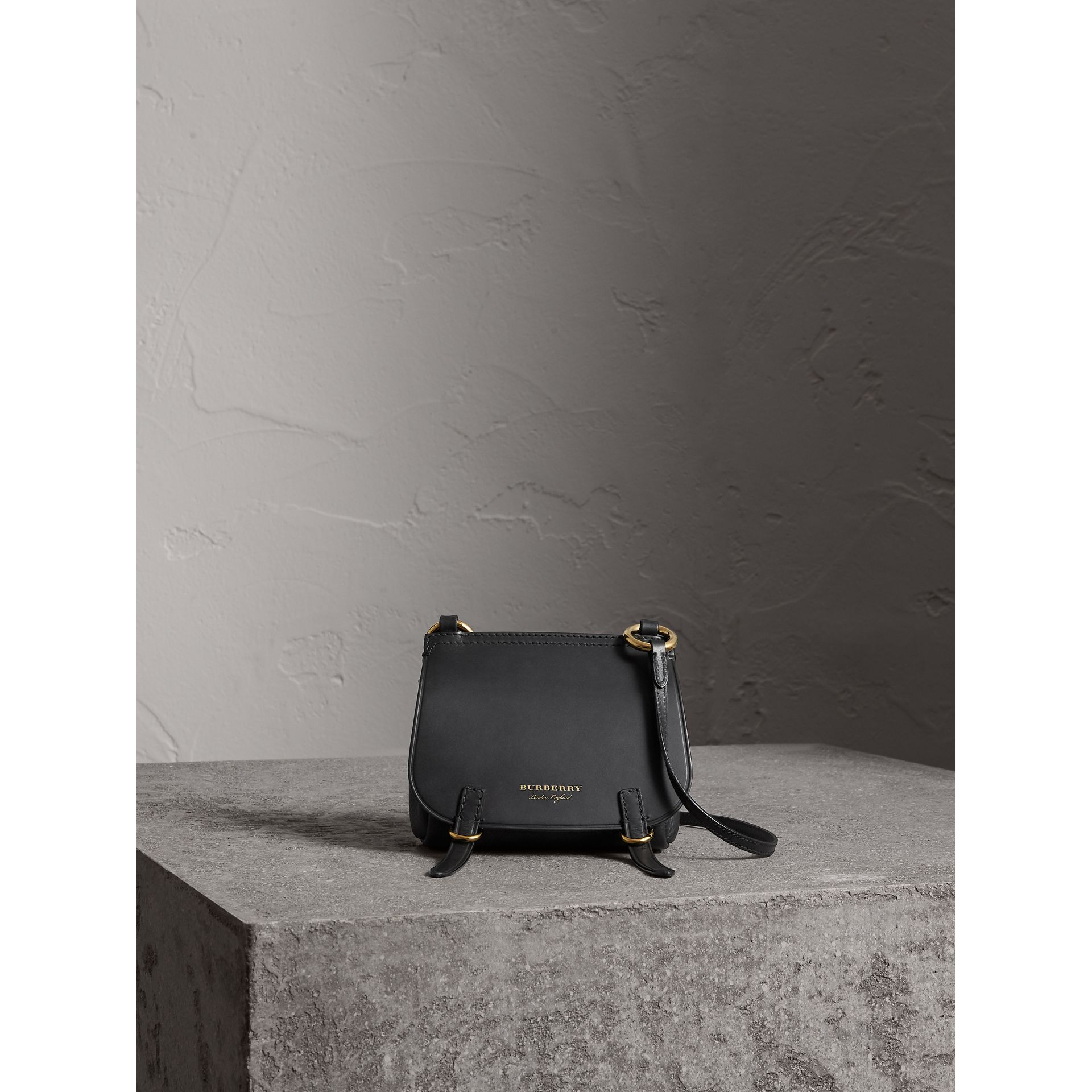 The Baby Bridle Bag in Leather in Black - Women | Burberry - gallery image 7
