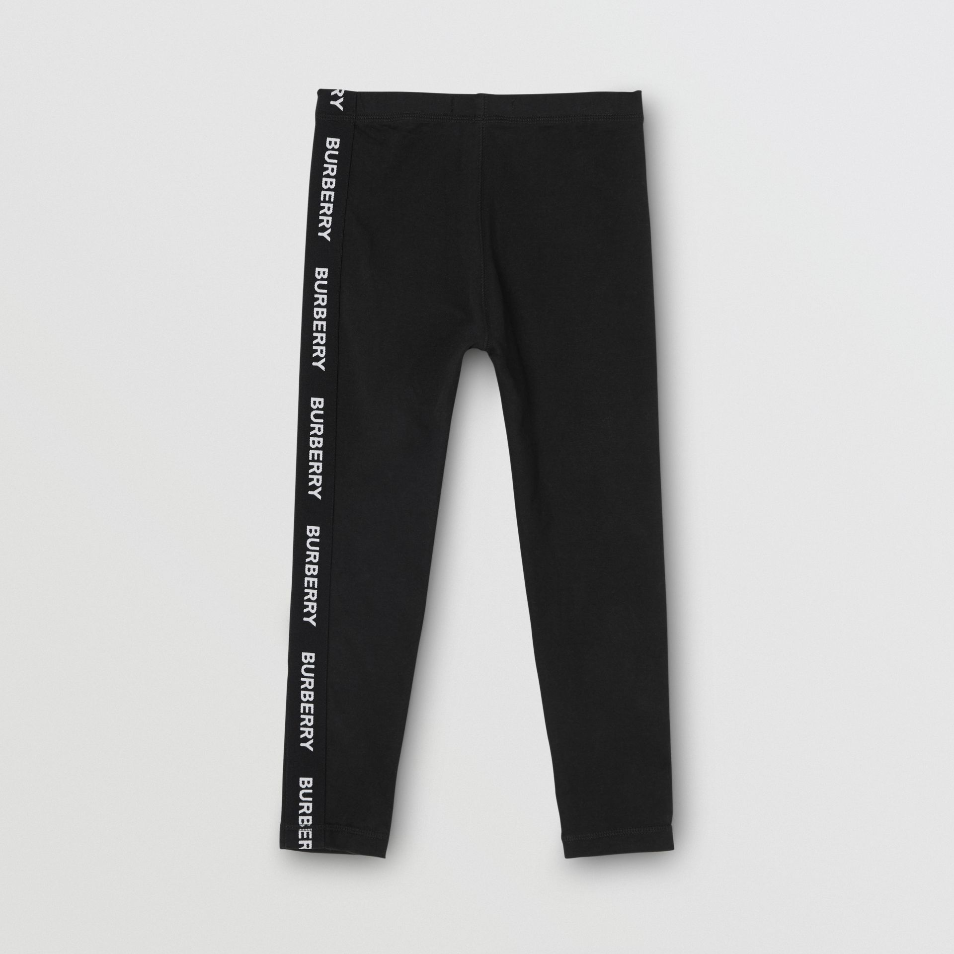 Legging en coton stretch avec logo (Noir) | Burberry - photo de la galerie 3