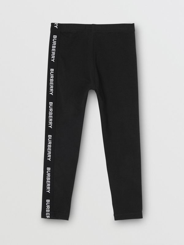 Legging en coton stretch avec logo (Noir) | Burberry - cell image 3