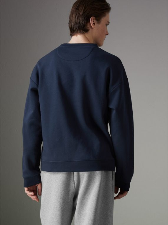 Reissued Jersey Sweatshirt in Navy Blue - Men | Burberry - cell image 2