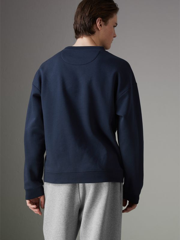 Reissued Jersey Sweatshirt in Navy Blue - Men | Burberry United Kingdom - cell image 2