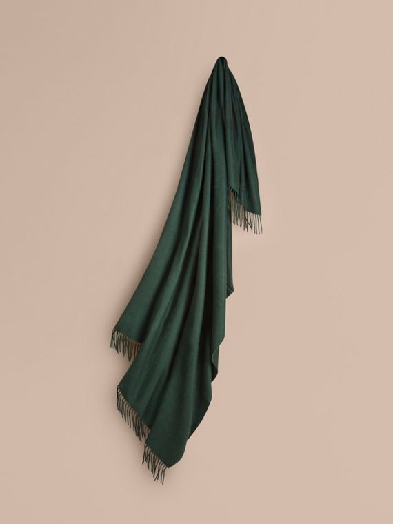 Cashmere Blanket in Dark Forest Green | Burberry