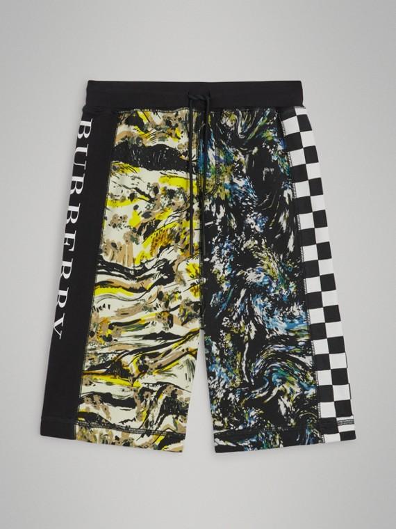 Shorts aus Baumwolle mit Zugbandverschluss und Grafikdruck (Mehrfarbig)