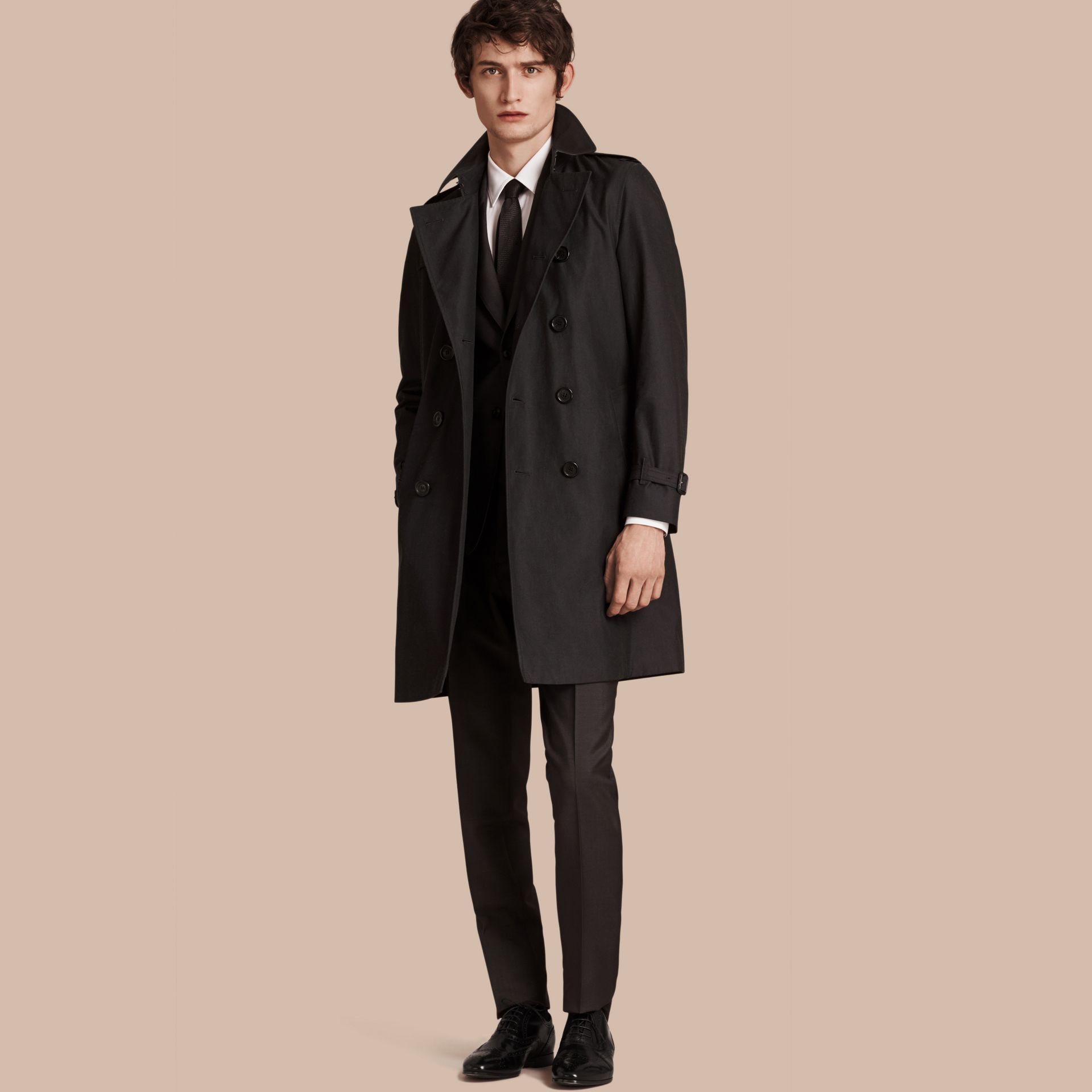 Mercury The Chelsea – Cotton Gabardine Trench Coat Mercury - gallery image 1